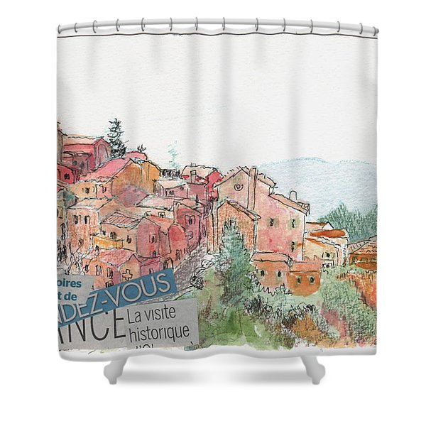 French Hill Top Village Shower Curtain