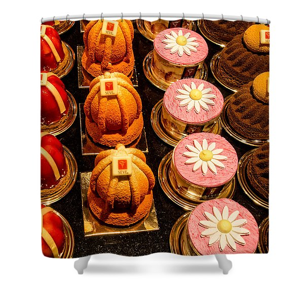 French Pastries In Lyon Shower Curtain