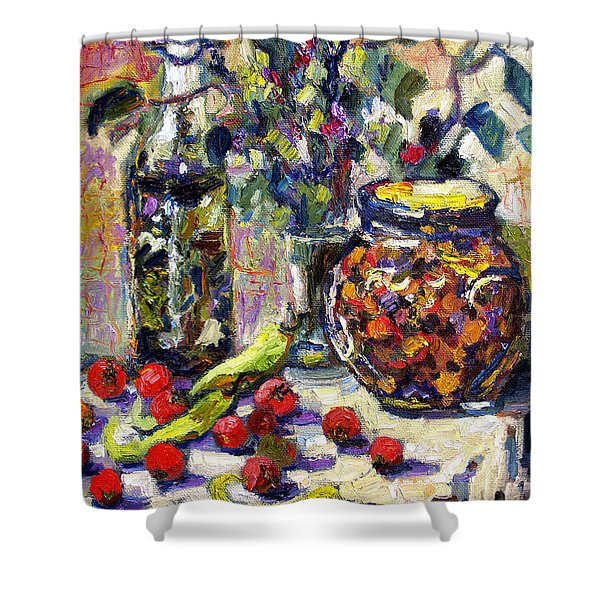 French Provence Cooking Still Life Shower Curtain