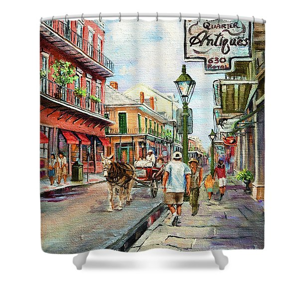 French Quarter Antiques Shower Curtain