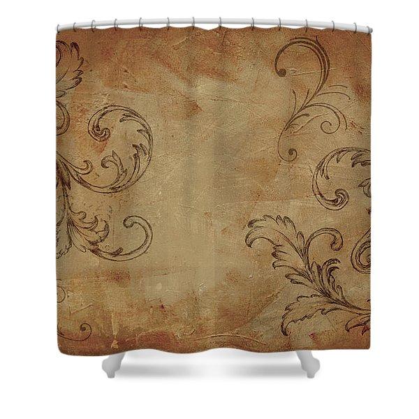 French Scrolls Shower Curtain