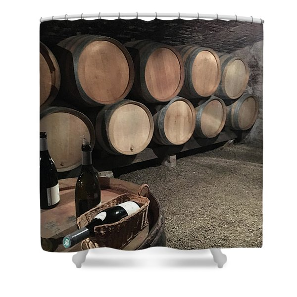 French Wine Cellar Shower Curtain