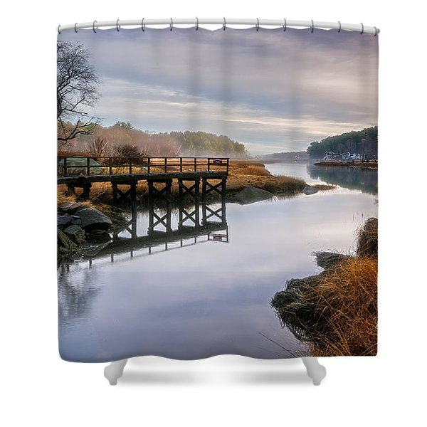 Frenchman's Pier Gloucester Shower Curtain
