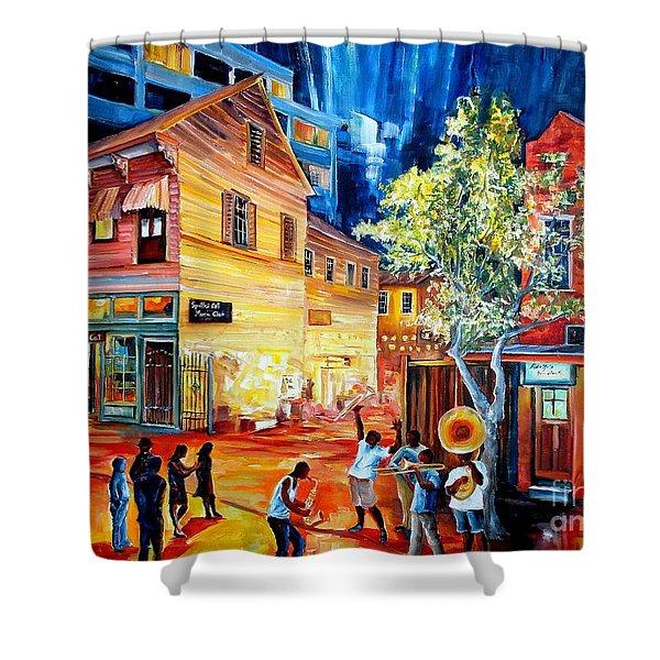 Frenchmen Street Funk Shower Curtain