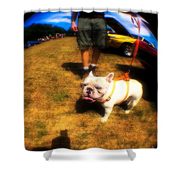 Frenchy At The Car Show  Shower Curtain
