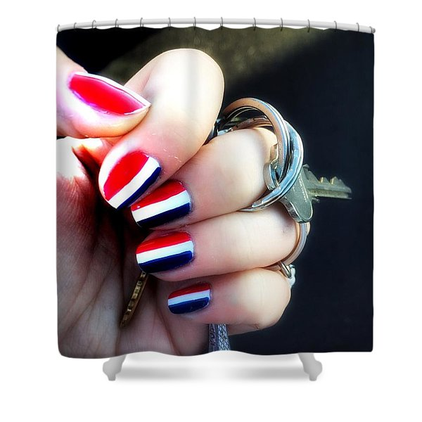 Frenchy Nails Shower Curtain