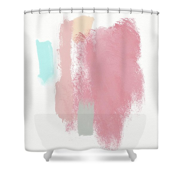 Fresh Abstract 3- Art By Linda Woods Shower Curtain