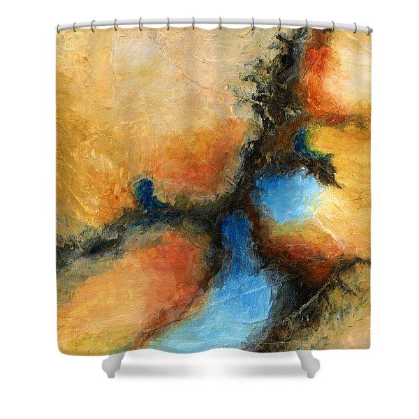 Fresh Air Abstract Shower Curtain