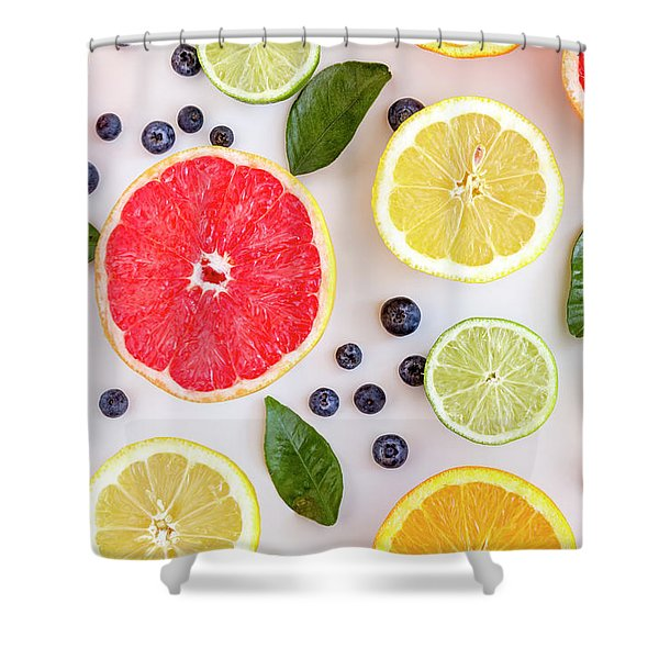 Fresh Citrus Fruits Shower Curtain