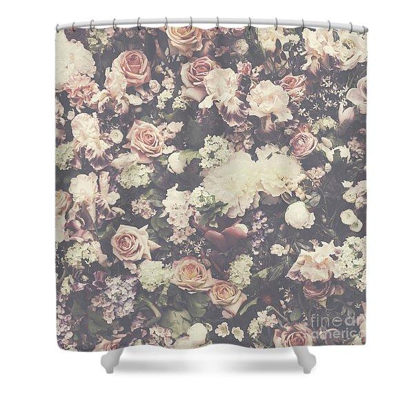 Fresh Flower Pattern Background Shower Curtain
