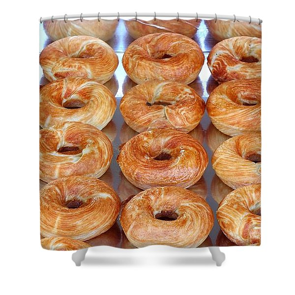 Fresh Frosted Doughnuts On Sale Shower Curtain