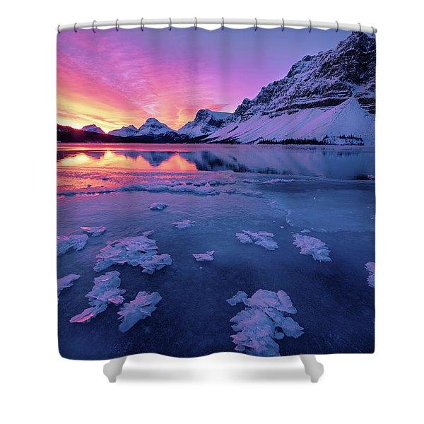 Fresh Ice On Bow Lake Shower Curtain