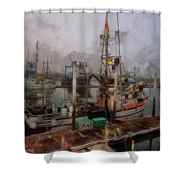 Fresh Live Crab Shower Curtain