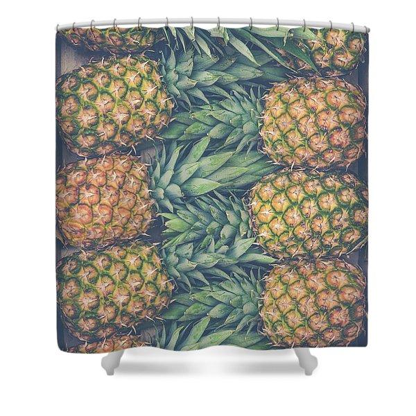 Fresh Market Pineapples Shower Curtain