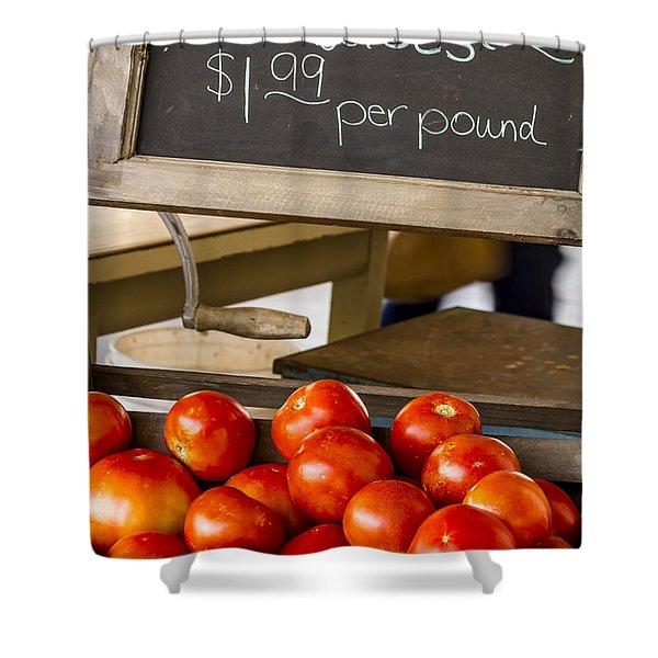 Fresh The Garden Tomatoes Shower Curtain