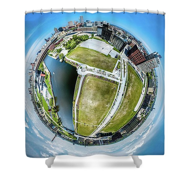 Freshwater Way Little Planet Shower Curtain