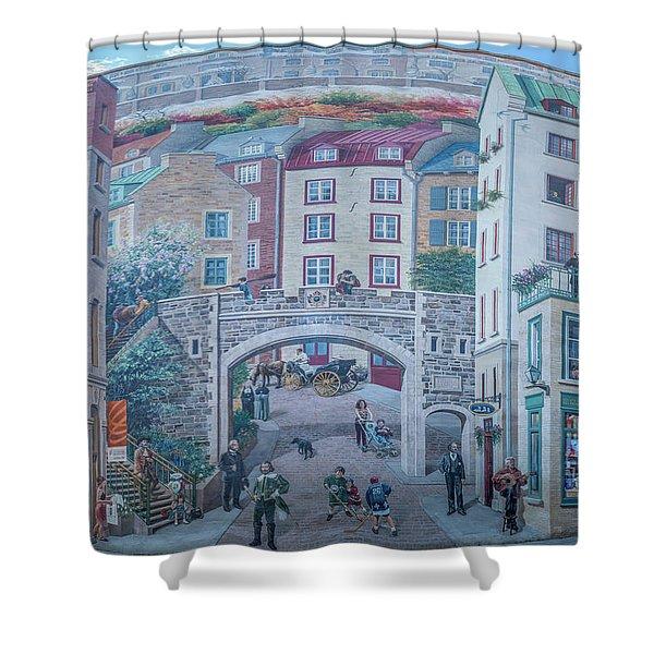 Fresque Des Quebecois Shower Curtain