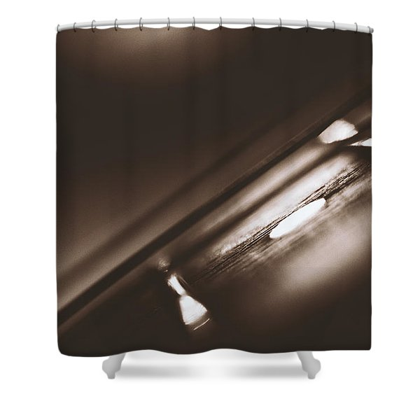 Fretboard Shower Curtain