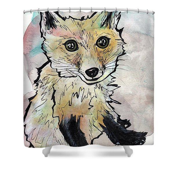 Friendly Fox Shower Curtain