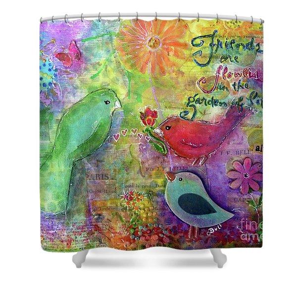 Friends Always Together Shower Curtain