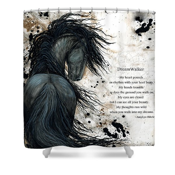 Friesian Dreamwalker Horse Shower Curtain