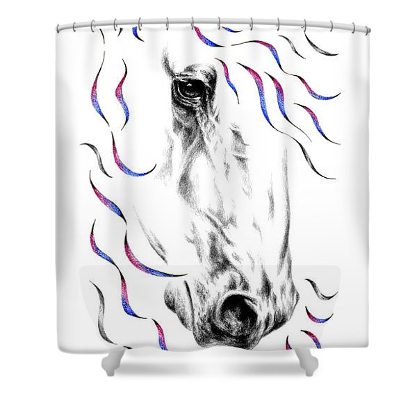 Friesian Horse Nobility Shower Curtain