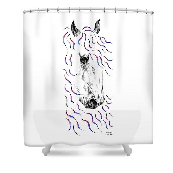 Friesian Horse Nobility Shower Curtain
