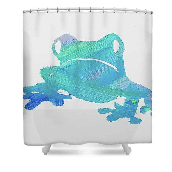Froggie Friend Shower Curtain
