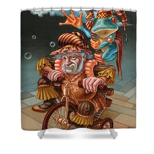 Froggy Circus Shower Curtain