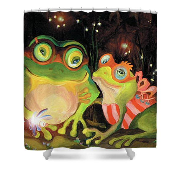 Frogs At Silver Lake Shower Curtain
