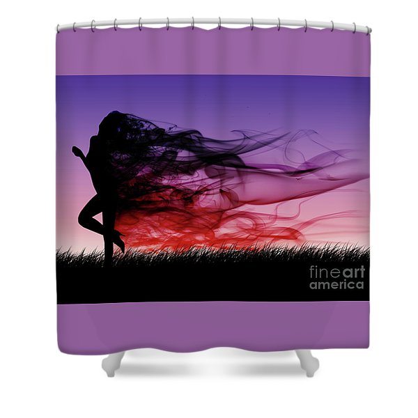 Frolicking Through The Meadow Shower Curtain