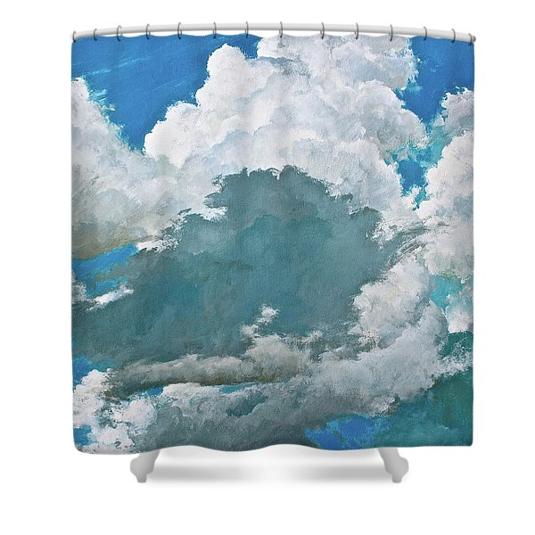 Shower Curtain featuring the painting From Both Sides Now by Cliff Spohn