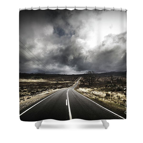 From Cradle To The Grey Shower Curtain