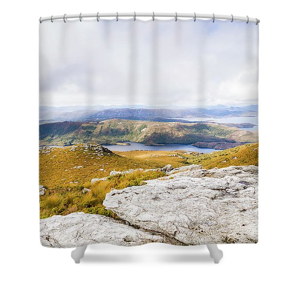 From Mountains To Lakes Shower Curtain