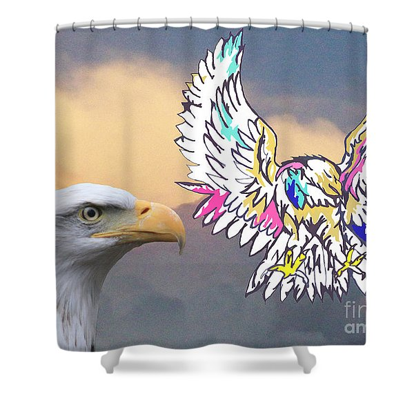 From Real To Abstraction Shower Curtain