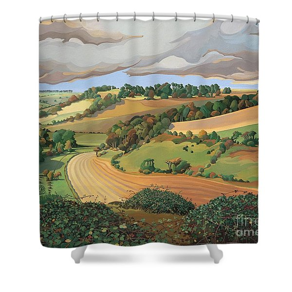 From Solsbury Hill Shower Curtain
