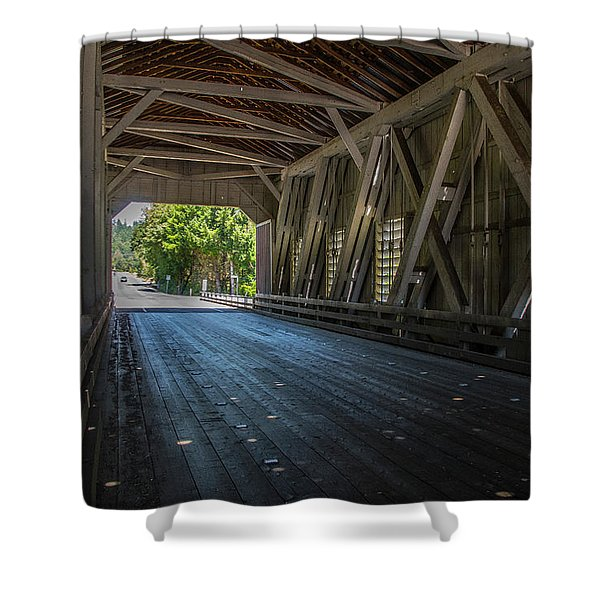 From The Inside Looking Out - Shimanek Bridge Shower Curtain