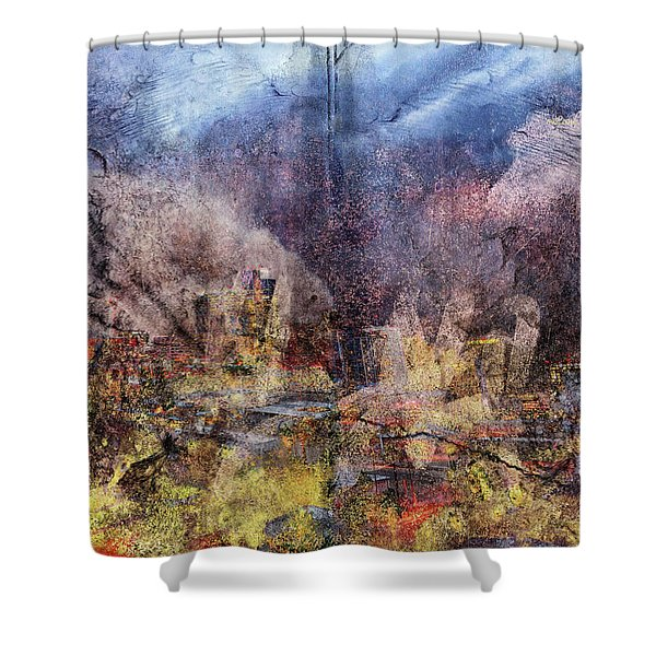 From The Rubble Shower Curtain