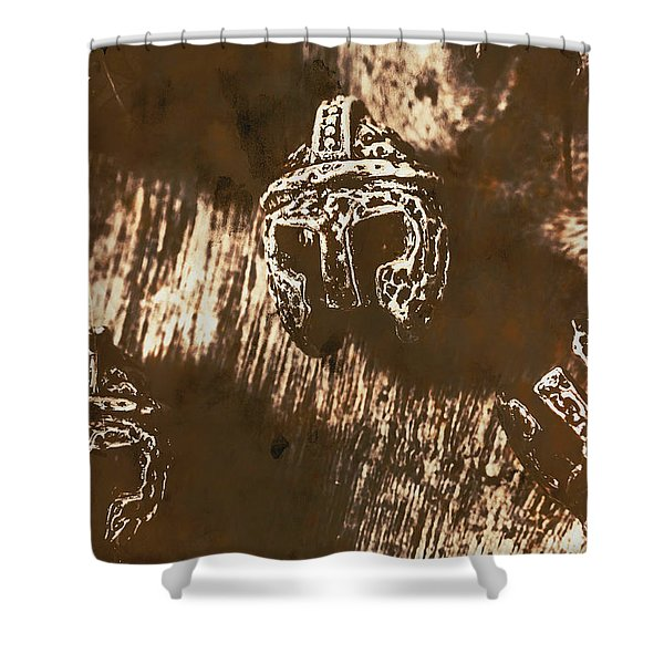 From Warriors Of Past Shower Curtain