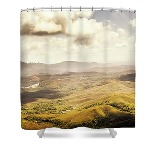 From Zeehan To Trial Harbour Shower Curtain