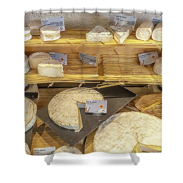 Fromage Francais Shower Curtain