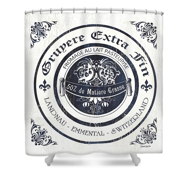 Fromage Label 2 Shower Curtain