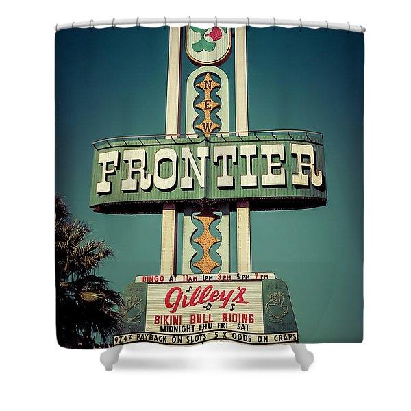 Frontier Hotel Sign, Las Vegas Shower Curtain