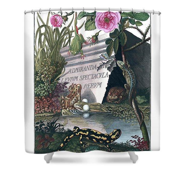 Frontis Of Historia Naturalis Ranarum Nostratium Shower Curtain
