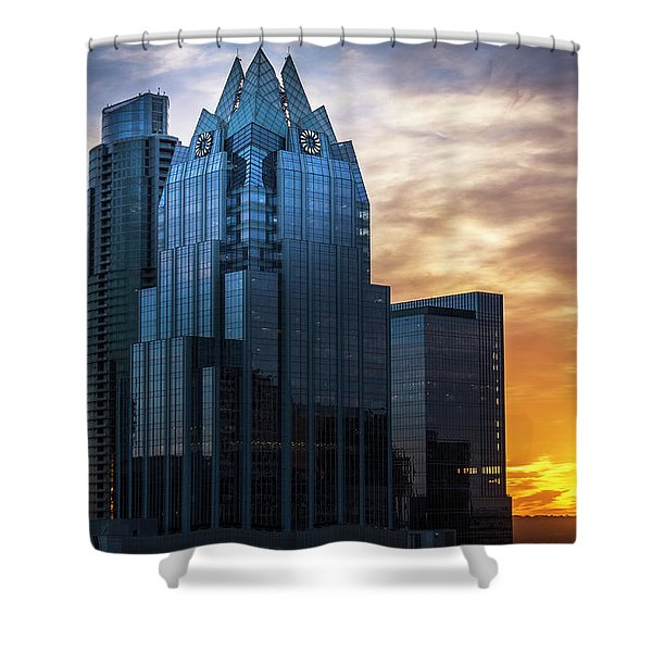 Frost Bank Tower Shower Curtain