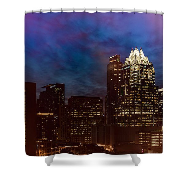 Frost Tower Shower Curtain