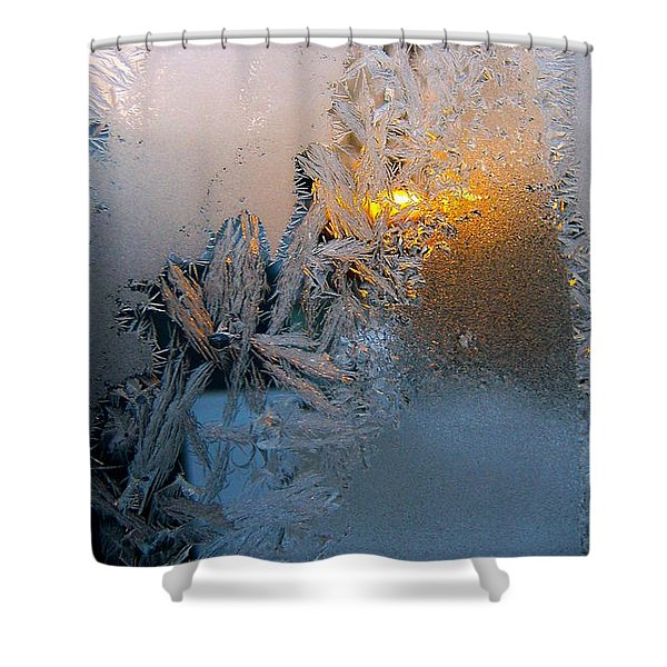 Frost Warning Shower Curtain