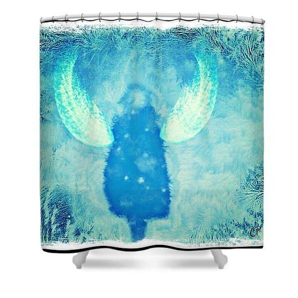 Frosted Angel Shower Curtain
