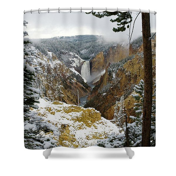 Frosted Canyon Shower Curtain
