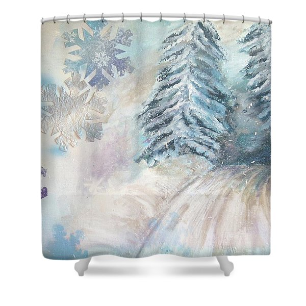 Frosted Secrets Of Winter Shower Curtain